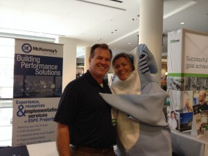 Tony Trentini with a member of SEEA's fun committee at Moving Forward: 2015 SEEA & AESP Southeast Conference.