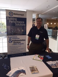 Tony Trentini at the McKenney's booth at Moving Forward: 2015 SEEA & AESP Southeast Conference.